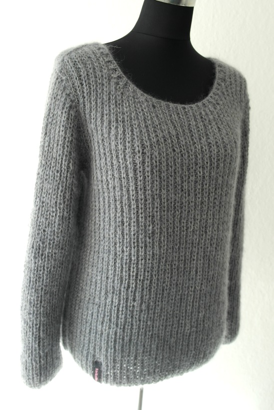 Patent sweater med lynlås