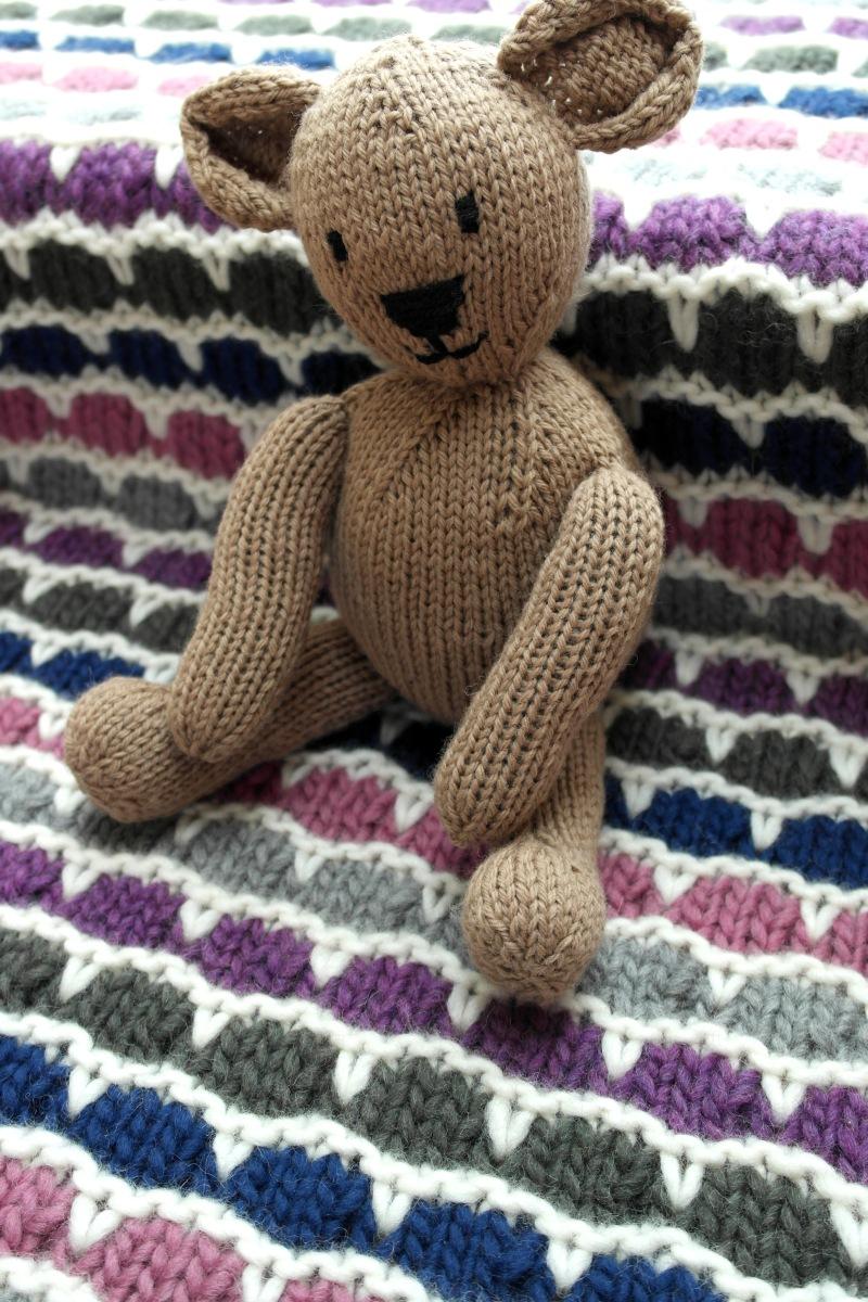 Teddy bear og Bikubetæppe